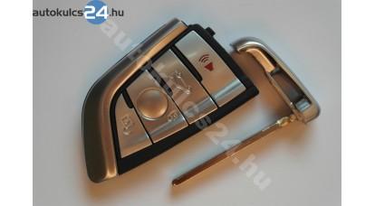 BMW kulcsház 4 gombos fém keret
