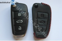 Audi 3 gombos bicskakulcs bőrtok