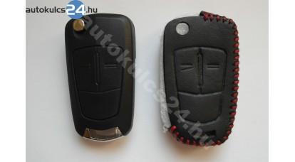 Opel 2 gombos bicskakulcs bőrtok