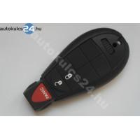 Chrysler 2+1 gombos bedugós kulcs PCF7941 433Mhz