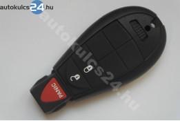 Chrysler 2+1 gombos bedugós kulcs PCF7961 433Mhz