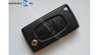 Peugeot bicskakulcs 3 gombos 433Mhz PCF7941A ASK