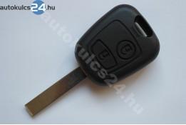 Citroen kulcs 2 gombos HU83 433Mhz ID46