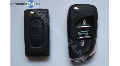 Peugeot bicskakulcs 3 gombos hu83 újabb