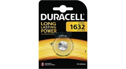 Duracell CR1632 lithium gombelem