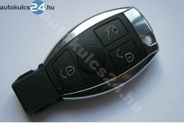 Mercedes 3 gombos kulcsház fém keret
