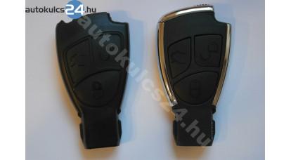 Mercedes 3 gombos kulcsház fém keretes átalakító