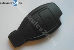 Mercedes 2 gombos kulcsház fekete
