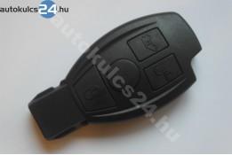 Mercedes 3 gombos kulcsház fekete