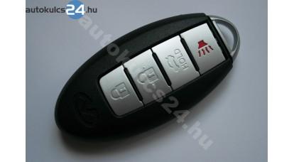 Nissan 3+1 gombos bedugós kulcsház biztonsági kulccsal