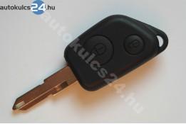 Peugeot 2 gombos kulcsház