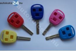 Toyota kulcsház 3 gombos TOY48 rövid színes