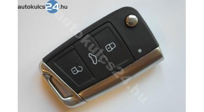 Volkswagen 3 gombos kulcsház fém keret
